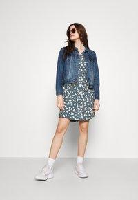 Object - BIRDY DRESS - Shirt dress - blue mirage/sandshell - 1