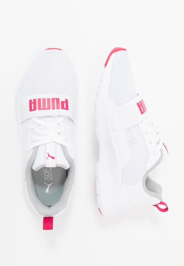 WIRED - Neutral running shoes - white/bright rose
