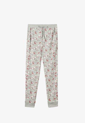 Pyjama bottoms - grau  light grey blend marie print