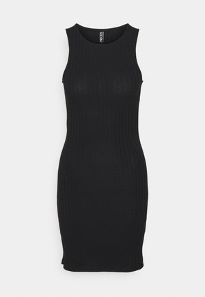 PCTIANA DRESS - Vestido de punto - black