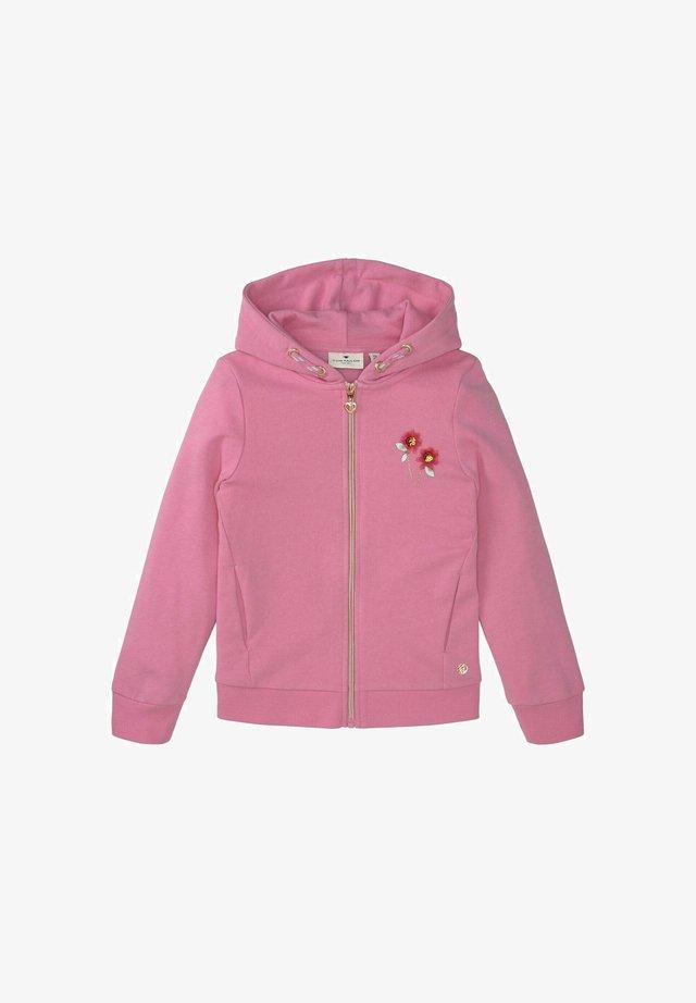 Hoodie met rits - kids sachet pink