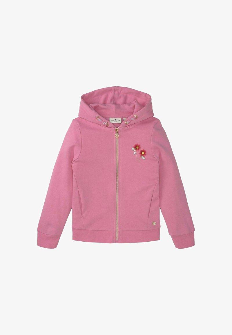 TOM TAILOR - Zip-up hoodie - kids sachet pink
