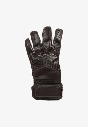 Goalkeeping gloves - black / shocking orange / deep blue