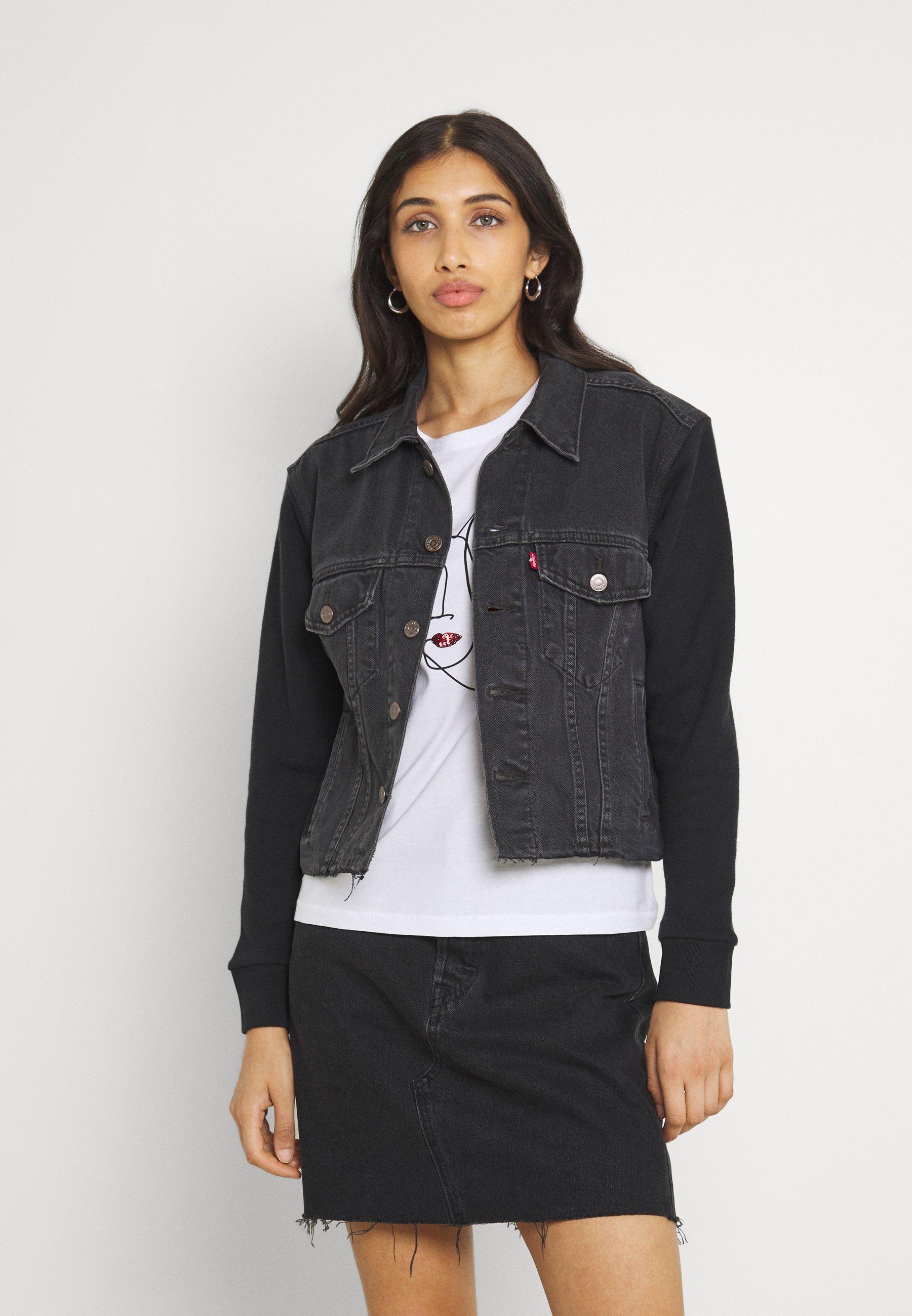 Women EX BF HYBRID TRUCKER - Denim jacket