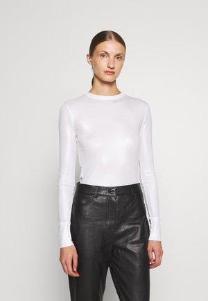 HAKA MAGLIA COSTINA LAMINATA - Bluzka z długim rękawem - silver
