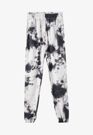 MIT TIE-DYE IM KONTRAST - Broek - light grey