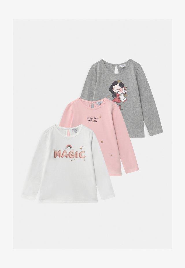 3 PACK - Long sleeved top - primrose pink