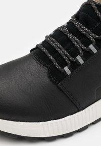 Sorel - HILL MID WP - Zapatillas altas - black - 5