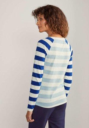 Long sleeved top - eisblau/naturweiß