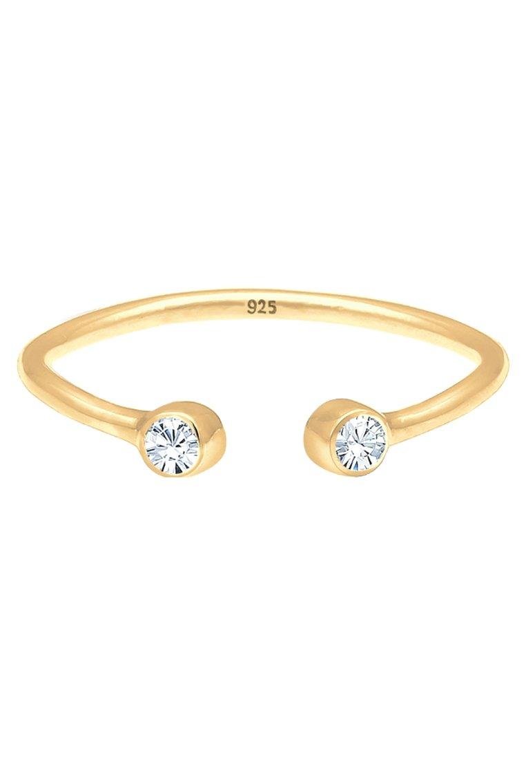Elli Solitär Statement - Ring Rosegold-coloured/white/roségoldfarben