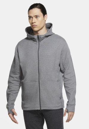 Zip-up hoodie - iron grey/htr/(black)