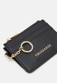 Trussardi - LOGO CARD HOLDER - Wallet - black - 3