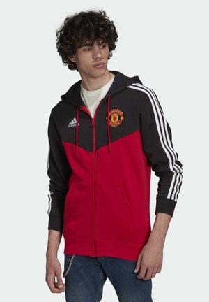 Zip-up sweatshirt - black real red