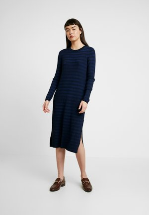 COLUMN DRESS STRIPE - Jumper dress - navy