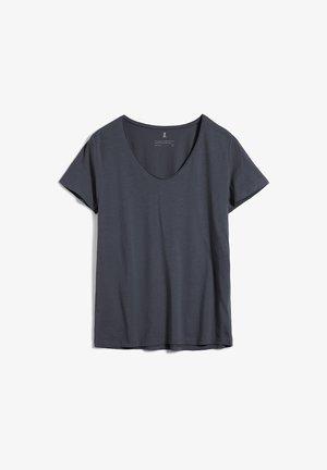 HAADIA - Basic T-shirt - anthra