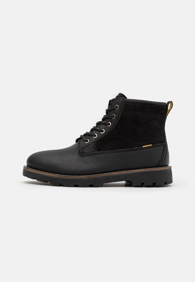 COPPER - Šněrovací kotníkové boty - black