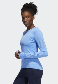 adidas Performance - RISE UP N RUN LONG-SLEEVE TOP - Funktionströja - blue - 3