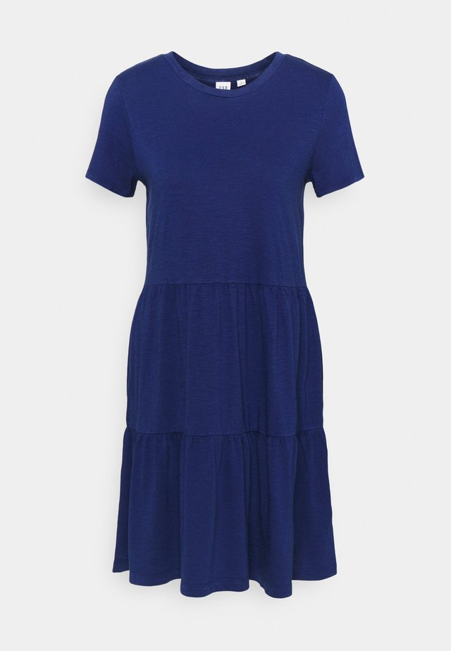 TIERD - Jersey dress - deep cobalt