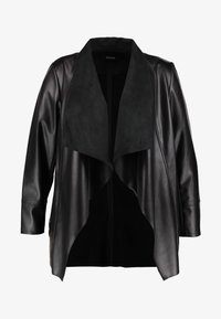 Evans - WATERFALL JACKET - Faux leather jacket - black - 5