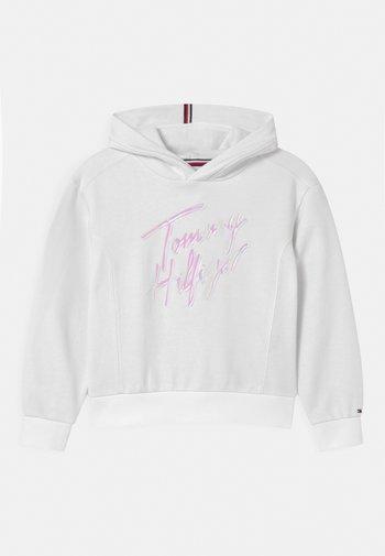 SCRIPT PRINT HOODIE - Sweatshirt - white