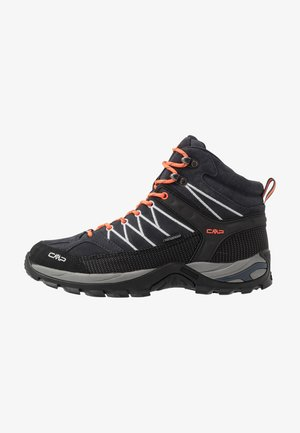 RIGEL MID TREKKING SHOES WP - Trekingové boty - antracite/flash orange