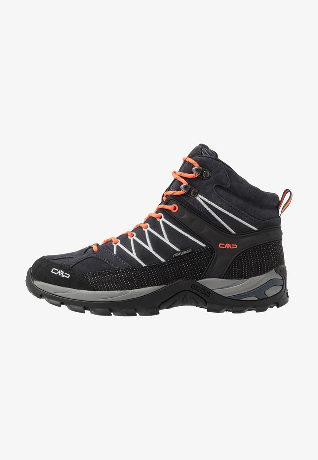 RIGEL MID TREKKING SHOES WP - Hiking shoes - antracite/flash orange