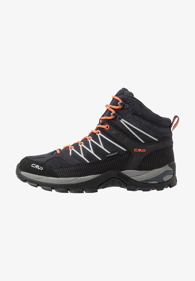 CMP - RIGEL MID TREKKING SHOES WP - Hiking shoes - antracite/flash orange