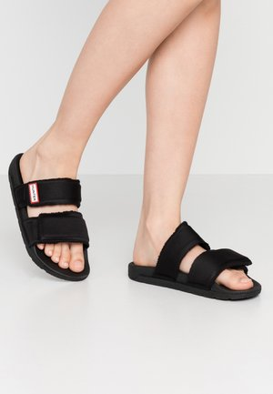 WOMENS ORIGINAL TWO STRAP SLIDE - Mules - black