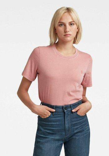 REGULAR FIT OVERDYED - Basic T-shirt - dusty rose