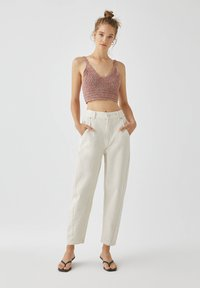 PULL&BEAR - Jeans a sigaretta - white - 1
