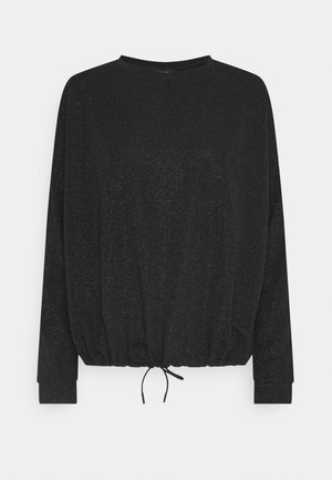 SILKINA GLITTER - Long sleeved top - black