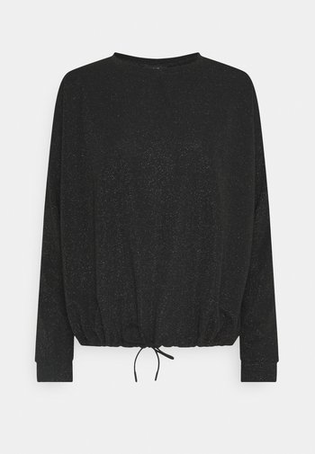 SILKINA GLITTER - Long sleeved top - black
