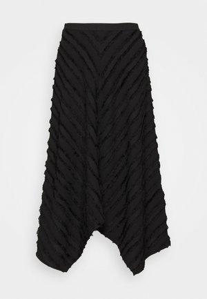 FRINGE FIL COUPE SKIRT - Áčková sukně - black