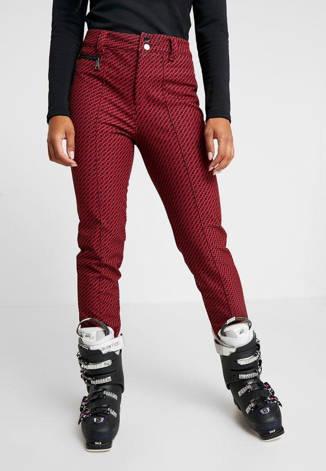 JUNES - Spodnie narciarskie - classic red