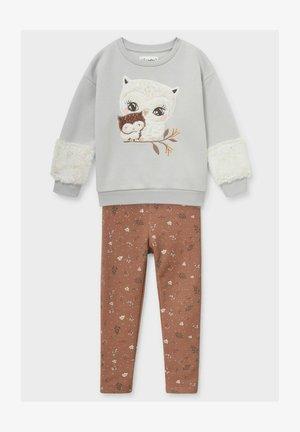 SET - Sweatshirt - gray / brown