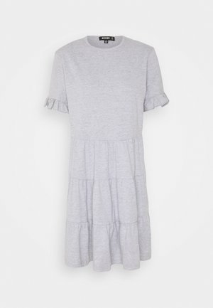 FRILL SLEEVE TIERED SMOCK DRESS  - Jerseykleid - grey marl