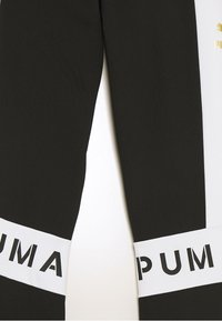 Puma - COLOR BLOCK LEGGINGS - Leggings - black/white - 2