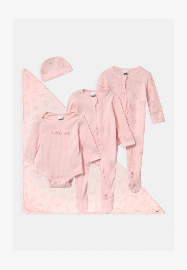 BUNDLE SET UNISEX - Mössa - crystal pink