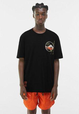 MIT PRINT - T-shirt imprimé - black