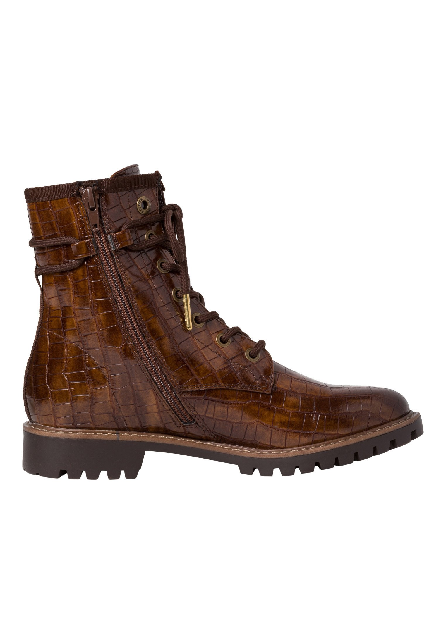 Limited Cheapest s.Oliver Lace-up ankle boots - cognac croco | women's shoes 2020 eEHxJ
