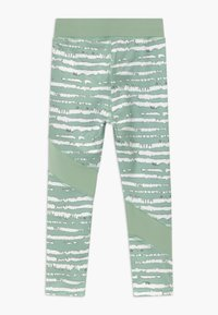 South Beach - GIRLS COLOR BLOCK - Collants - sage green - 1