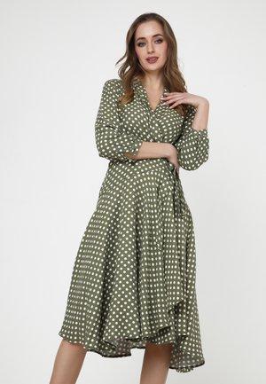 JODY - Day dress - terrakotta/khaki