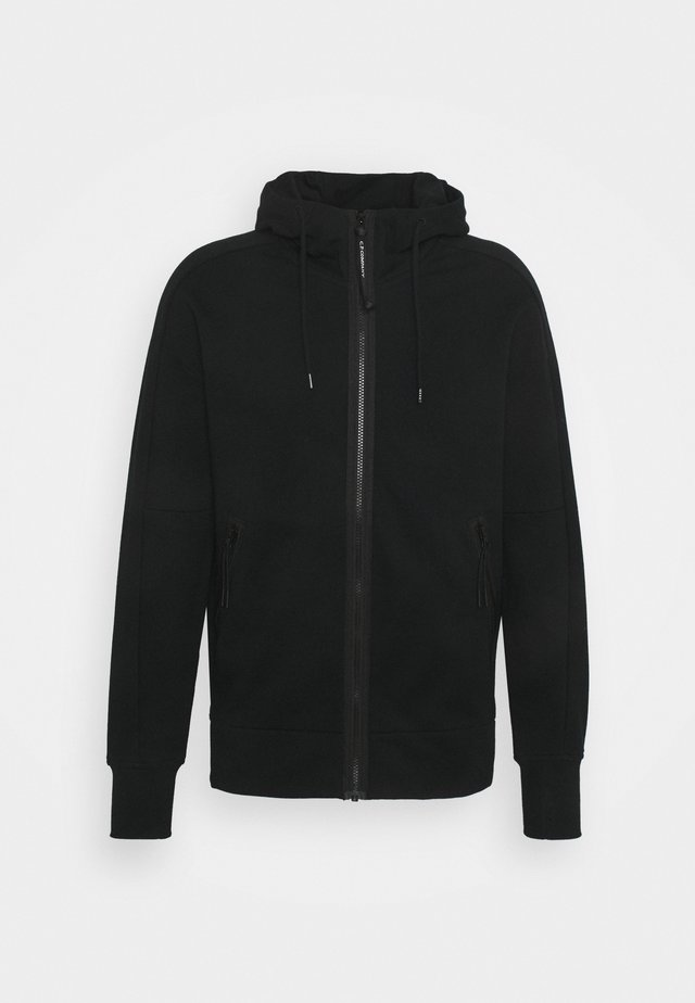 HOODED OPEN - veste en sweat zippée - black