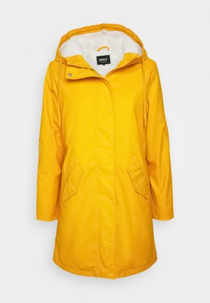 ONLSALLY RAINCOAT - Parkas - golden yellow/white