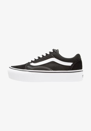 UA OLD SKOOL PLATFORM - Sneakers basse - black/white
