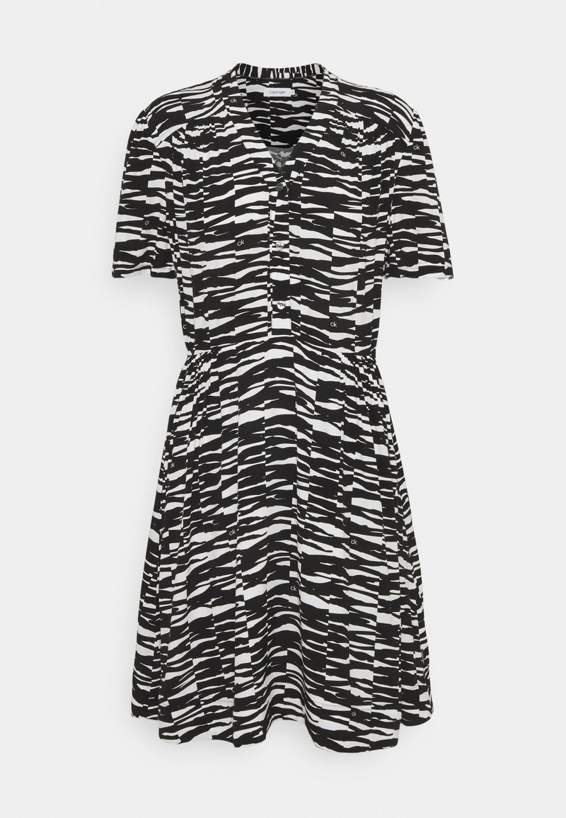 Calvin Klein - SHORT DRESS - Day dress - black/ecru