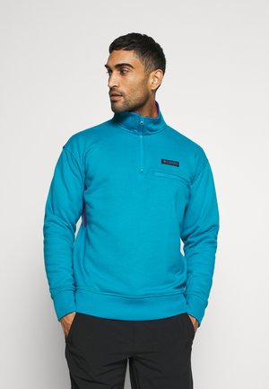 BUGA QUARTER ZIP - Sweatshirt - fjord blue/plum
