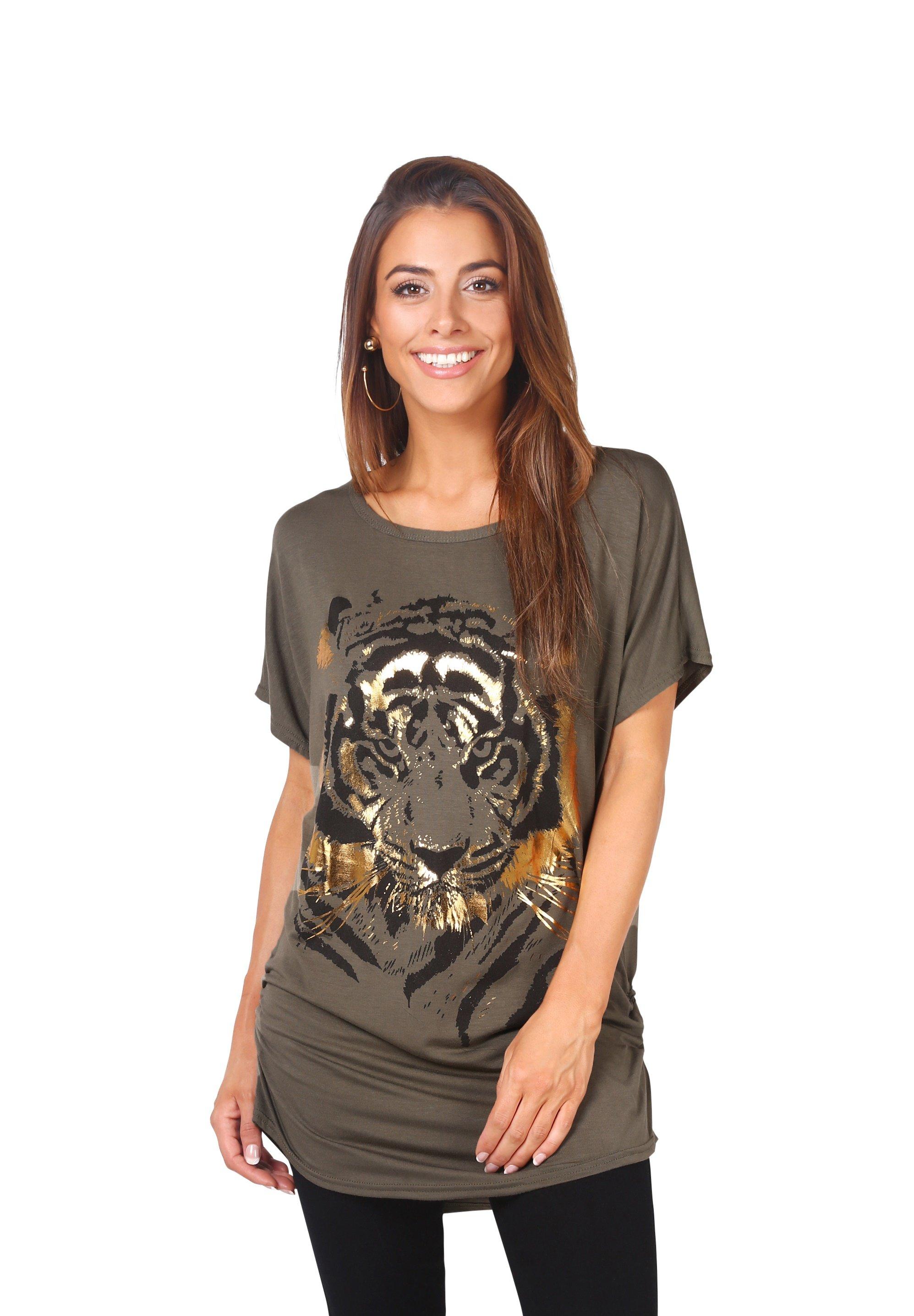 Women OVERSIZE SHINY TIGER  - Print T-shirt