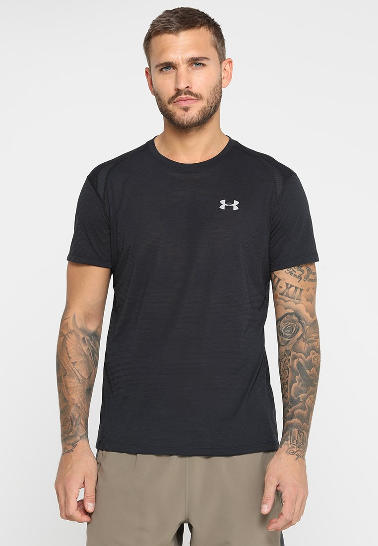 Under Armour - STREAKER SHORTSLEEVE - T-shirt med print - black