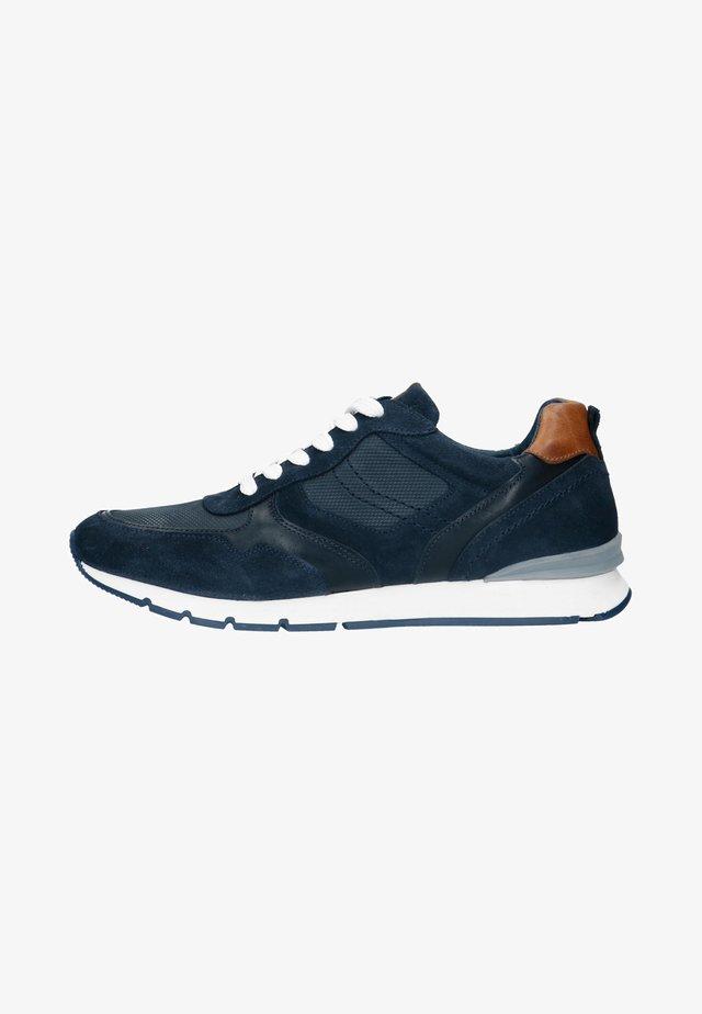 MIT BRAUNEN DETAILS - Sneakers laag - blue